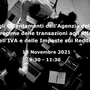 """Web Meeting su """"La Fiscalità della Transazione"""""""